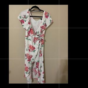 Floral wrap dress! Worn once!